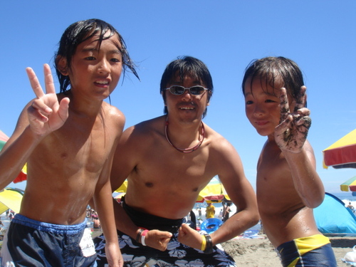 今井浜にて