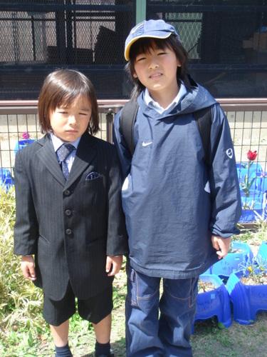 ライト、小学校入学式